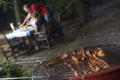 Bbq in the garden Royalty Free Stock Images