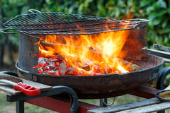 BBQ on the garden Stock Photography