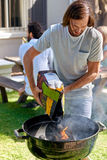 Bbq garden party Royalty Free Stock Image