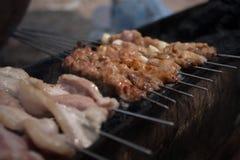 BBQ gerookt vlees Royalty-vrije Stock Afbeelding