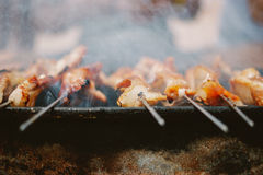 BBQ gerookt vlees Royalty-vrije Stock Foto's