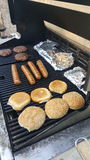 BBQ. Great food on the grill royalty free stock image