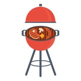 Bbq gril icon Royalty Free Stock Photos
