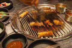 BBQ grillé par Coréen de ventre de porc image libre de droits