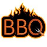 Bbq-Grill Ð-¡ ooking Fleisch auf Feuer lizenzfreie abbildung