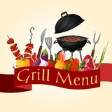 Bbq grill background Stock Photo