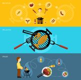 Bbq Grill Banner Set Stock Photo