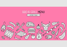 Bbq and grill banner Royalty Free Stock Photography