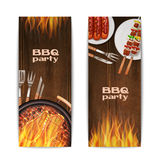 Bbq Grill Banners Stock Images