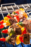 BBQ Grill. Barbecue on a grilling pan stock image