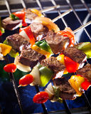 BBQ Grill. Barbecue on a grilling pan stock photo