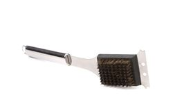 BBQ grill brush. Isolated on a white background royalty free stock image