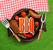 BBQ Grill elements. Royalty Free Stock Photo