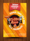 BBQ Grill flyer. BBQ and Grill flyer and label. Vector illustration Stock Image