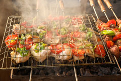BBQ Grill and glowing coals Stock Photography