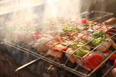 BBQ Grill and glowing coals Royalty Free Stock Photos