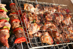 BBQ Grill and glowing coals Stock Photos