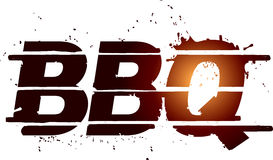 BBQ grill graphic text stock illustration