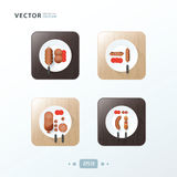 BBQ grill  Hot dog, Icons design food Stock Photo