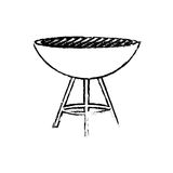 BBQ grill isolated Stock Photos