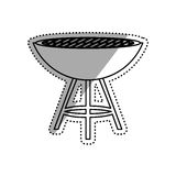 BBQ grill isolated Royalty Free Stock Images
