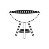 BBQ grill isolated Stock Photo