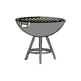 BBQ grill isolated Stock Photography