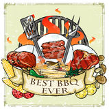 BBQ Grill label design - Best BBQ Ever Stock Photos