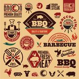 BBQ grill labels Royalty Free Stock Image