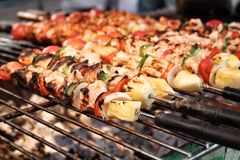 BBQ grill of meat Royalty Free Stock Photos