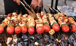 BBQ grill of meat Royalty Free Stock Photo