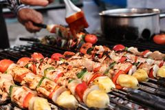 BBQ grill of meat Stock Photography
