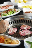 BBQ grill, meat and vegetable Royalty Free Stock Photo