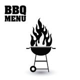 Bbq and grill menu design. Bbq grill menu and flame icon. Steak house food and restaurant theme. Isolated design. Vector illustration Royalty Free Stock Photo