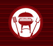 Bbq grill menu. Vector background Royalty Free Stock Photo