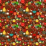 BBQ Grill naadloos patroon Stock Foto's