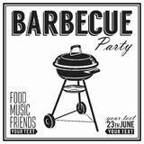 Bbq, grill party design poster, banner Royalty Free Stock Image