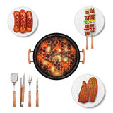 Bbq Grill Set Royalty Free Stock Images