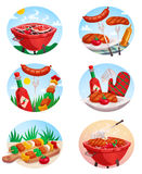 BBQ Grill Stickies Set Stock Photos