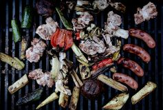 BBQ Grill with Style Royalty Free Stock Photography