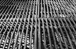 BBQ Grill Up close BW Royalty Free Stock Image
