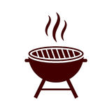 Bbq grill vector icon. On white background vector illustration