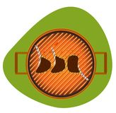BBQ grill vector illustration Royalty Free Stock Photography