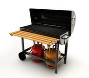 BBQ Grill on white background. 3d Illustration of BBQ Grill on white background Stock Photo