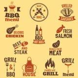 Bbq grilla etykietka Zdjęcie Royalty Free
