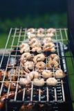 bbq grilla krewetkowy skwierczenia lato Obraz Royalty Free