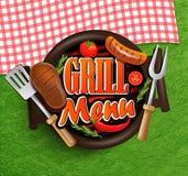 Bbq grilla menu Fotografia Royalty Free