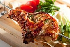 BBQ & grillat griskött royaltyfri bild