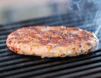 BBQ Grilled Burgers Stock Images