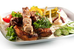 BBQ and Grilled Meat Set Stock Images